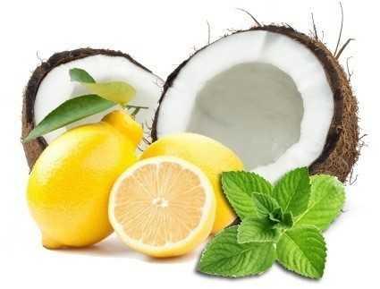 coconut lemon facial mask