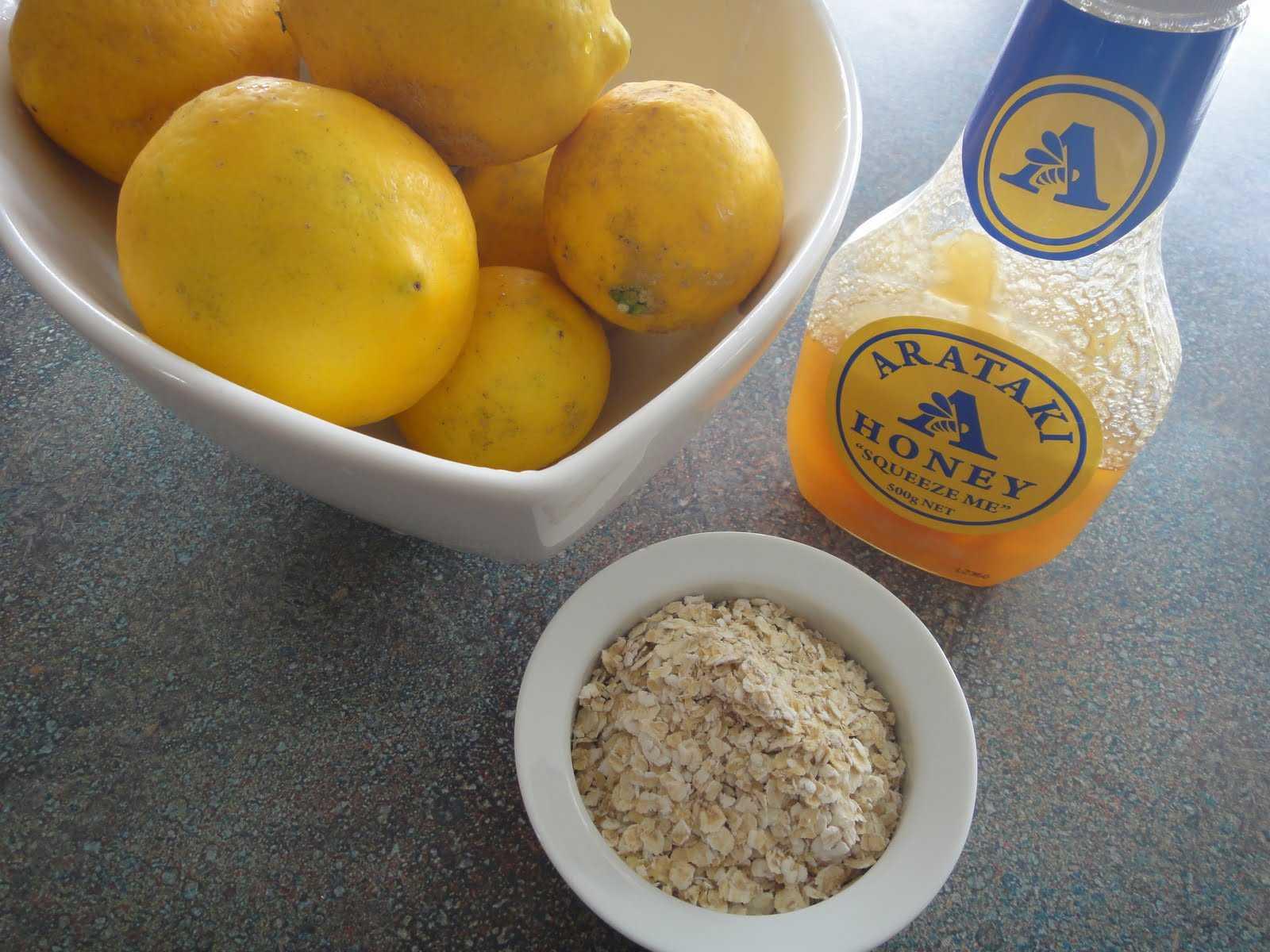 oatmeal lemon facial mask