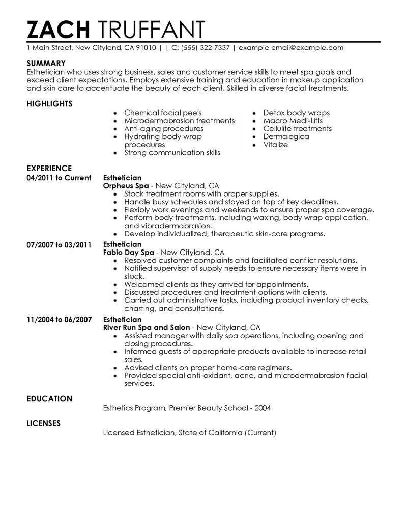 how to become an esthetician epic guide to a career in the beauty esthetician resume sample